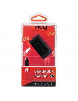 Cargador Rapido de Pared Only 9V 2A Cable Incorporado Micro Usb JA-95