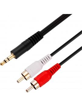 Cable Miniplug 3.5mm a 2...
